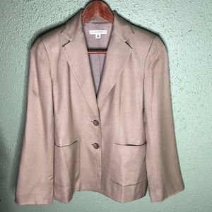 Banana Republic Silk Blazer Tan Size 0